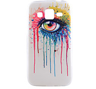 Eye Pattern Thin Transparent TPU Material Phone Case for Samsung Galaxy G360/ G850 /G5308