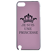 Imperial Crown  Pattern Hard Case for iTouch 5