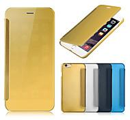 novo caso espelho chegada de luxo aleta magro auto sleep / wake up tampa do caso para iphone 6s