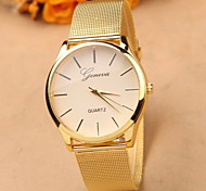 Alloy Disc Simple Fashion Metal Mesh Belt Quartz Watches for Men