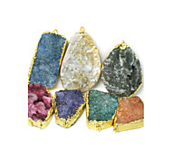 Beadia 1Pc Natural Agate Stone Pendants Irregularity Shape DIY Jewelry Pendants For Women Necklace (Dyed Colors)