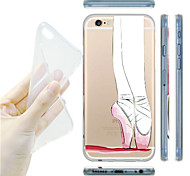 MAYCARI® Ballet Dancer Transparent Soft TPU Back Case for iPhone 6 Plus