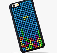 Fluorescent Half Round Bead + Import Lamy Elastic PU and ABS Plastic Mobile Phone Pan Collocation for iPhone 6