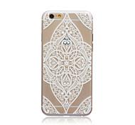 amo estilo flor transparente TPU macio Capa para iPhone 5c