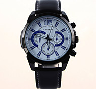 Men's Fashion Casual Sports Watches Leather Strap Military Wrist Watches.