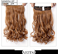 "Neitsi® 1pc 110g 22"" 3/4 Full Head 5clips Kanekalon Synthetic Braiding Hair Pieces Clip In/on Wavy Extensions 27#"