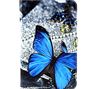 Butterfly Pattern PU Leather Wallet Soft TPU Case Cover For Samsung Galaxy Tab 4 10.1/ Tab 3 Lite/Tab 4 7.0/Tab A 8.0