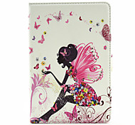 Beautiful Fairy Pattern Diamond Inlay Pattern PU Leather Full Body Case With Stand for iPad Mini 4