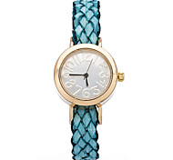 Vintage Fashion Digital Dial Weave Women Bracelet Watches