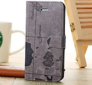 PU Leather Full Body Cases Horizontal Flip Leather Case with Stand for iPhone 5/5S