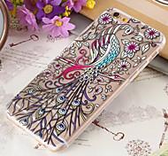 tpu fiori sottili pavone oowl cellulare soft shell per iphone 6s 6 plus / iphone più (colori assortiti)