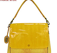 Kate & Co.® Women PVC Shoulder Bag Yellow / Red - TS-00144