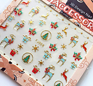 3D Gilding Christmas Series Deer Nail Art Stickers
