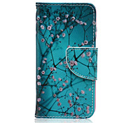 Plum Blossom Pattern PU Leather Wallet Design Full Body Case with Stand for iPod Touch 5/6
