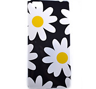 White Chrysanthemum Pattern Decal Bright Side TPU Material Phone Case for Huawei  P8 Lite