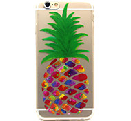 iPhone 7 Plus Pineapple Pattern TPU Relief Back Cover Case for iPhone 6/iPhone 6S