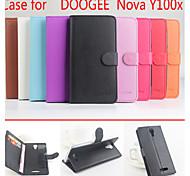 cuir flip étui de protection magnétique pour doogee nova y100x (couleurs assorties)