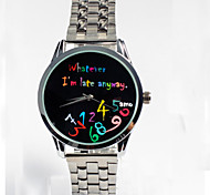 Steel Band Wrist Watch - Letter Watch For Women - Womens Clothing - Womens Watches Unisex Watches