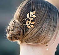 New Fashion Hairwear Gold Plated Leaf Design Hairpin For Girl Women Ladies