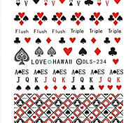 Water Transfer Printing Poker Nail Stickers