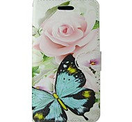 For Samsung Galaxy Case Card Holder / Wallet / with Stand / Flip Case Full Body Case Butterfly PU Leather SamsungTrend Lite / Trend Duos
