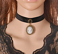 Z&X® Fabric Beauty Pendant Choker Necklaces Party/Daily/Casual 1pc