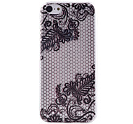 Black Lace Pattern Transparent TPU Material Soft Thin Cell Phone Case for iPhone 5C