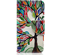 Colorful Tree Pattern PU Leather Full Body Case with Screen Protector And Stand for iPod Touch 5/Touch 6