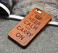 Wooden iphone Case Famous Aphorism Keep Calm and Carry On Hard Back Cover for iPhone 6/6s