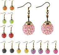 HUALUO®Starry Candy Color Flash Magic Ball Gold Earrings