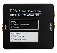 Converter For Coaxial Or Toslink Digital Audio to Analog L/R Audio Digital to Analog with 3.5mm Jack Output