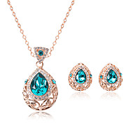 The New Diamond Necklace Earrings Drop Jewelry Set