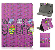 Word Pattern High Quality PU Leather with Stand Case for 10 Inch Universal Tablet