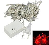 JIAWEN® 10 M 100 Diodo LED Rojo / Azul / Verde Conectable 4.0 W Cuerdas de Luces AC220 V