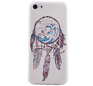 Campanula Pattern Transparent TPU Material Soft Thin Cell Phone Case for iPhone 5C