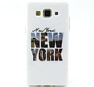 NewYork  Pattern TPU Soft Case for Galaxy A5/Galaxy A3