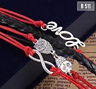 Women Charm Woven Handmade Bracelet Bangle Fashion Jewelry