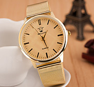 Men's  Watch Korean Fashion Belt gold Alloy Watch Air Personality