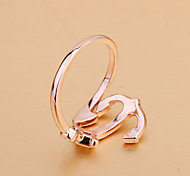 Rose gold plated ring CZ hand jewelry