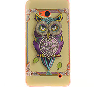 Personality Owls Pattern TPU + IMD Phone Case For Nokia N640
