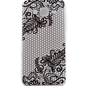 Diagonal Flowers Pattern TPU Material Transparent Soft Cell Phone Case for Samsung Galaxy J1/J5