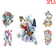 Séries Totem Tatuagem Adesiva - Non Toxic/Estampado/Tamanho Grande/Lombar/Waterproof - para Feminino/Masculino/Adolescente - de Papel -