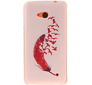 Red Feather Patterns TPU + IMD Phone Case For Nokia N640