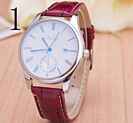 Men's  Watch New Style Fashion Men Belt Swiss Alloy Calendar Quartz Watch
