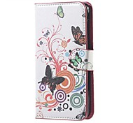 Realistic butterfly Pattern Leather Wallet Flip Stand Case For Acer Liquid Z520 Mobile Phone Cases Covers