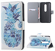 Blue Pineapples Leather Wallet Flip Stand Cover Case For  Motorola MOTO G3 G 3nd Gen XT1552