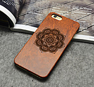 Wooden iphone Case Lucky Flower Carving Concavo Convex Hard Back Cover for iPhone 6