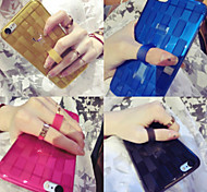 For iPhone 6 Case iPhone 6 Plus Case Case Cover with Stand Ring Holder Back Cover Case Solid Color Soft Silicone foriPhone 6s Plus iPhone