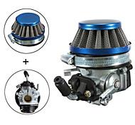 carbohidratos carburador + filtro de aire para 2 tiempos de mini moto de bolsillo motorizados