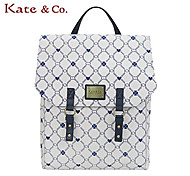 Kate & Co.® Women PVC Backpack White - TS-00147
